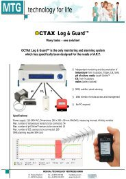 Log & Guard™ Many tasks – one solution! OCTAX Log & GuardTM ...