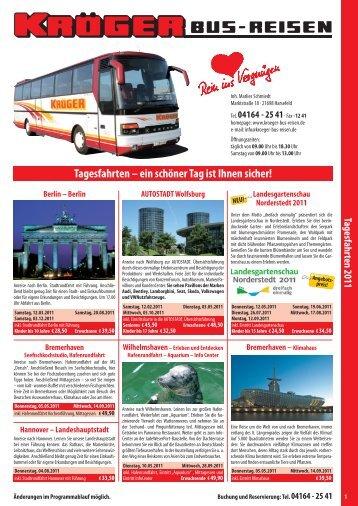 Tagesfahrten 2011 - Kröger Bus-Reisen
