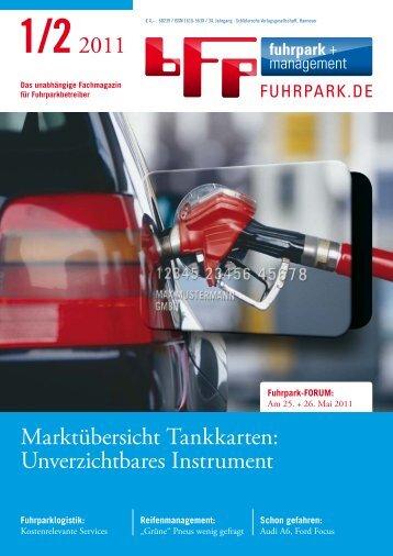 1/22011 Marktübersicht Tankkarten: Unverzichtbares ... - fuhrpark.de