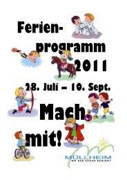 Ferienprogramm 2011 - Stadt Müllheim
