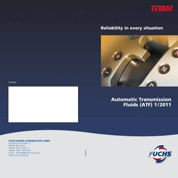 Automatic Transmission Fluids - fuchs europe schmierstoffe gmbh