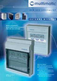 Externer Bypass - multimatic