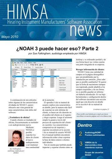 ¿NOAH 3 puede hacer eso? Parte 2