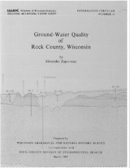 Ground-Water Quality Rock County, Wisconsin