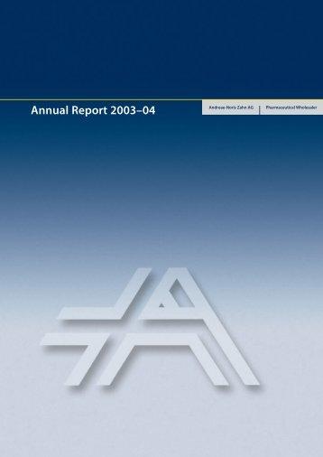 Annual Report 2003–04 - ANZAG