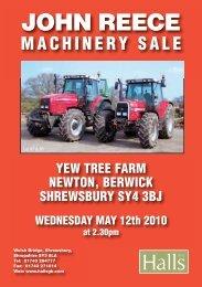 John Reece Machinery Sale Catalogue - Halls