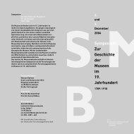 Symposium Zur Geschichte der Museen im 19. Jahrhundert
