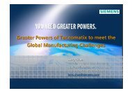 Greater Powers of Tecnomatix to meet the Global Manufacturing ...