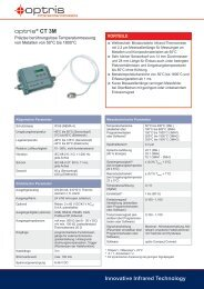 Datenblatt Pyrometer optris CT 3M - mu:v
