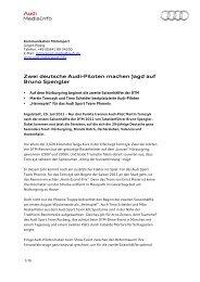 Zwei deutsche Audi-Piloten machen Jagd auf Bruno Spengler