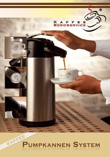 Kaffee Pumpkannen System - Kaffee Büroservice