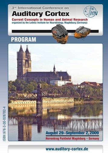 The scientific program (PDF) - Auditory Cortex 2009
