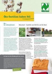 Info-Flyer Öko-Textilien haben Stil (pdf-Datei  - Naturland