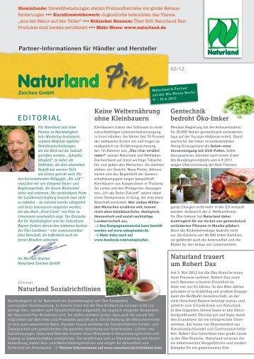 Naturland nachhaltigkeit f ngt beim boden an for Boden newsletter