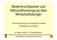 Bodenfruchtbarkeit und Nährstoffversorgung über ... - Naturland
