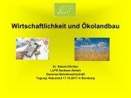 Wirtschaftlichkeit und Ökolandbau - Naturland