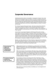 Corporate Governance - MVV Investor