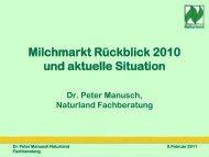 Milchmarkt (Rückblick 2010 und aktuelle Situation) - Naturland
