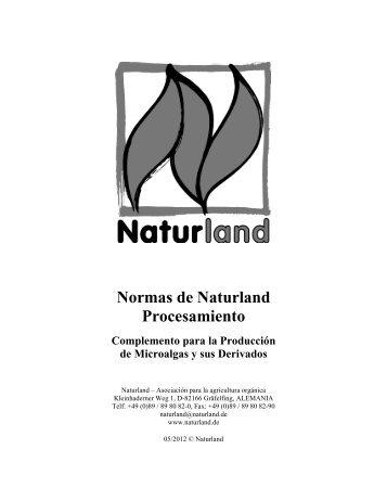Normas de Naturland Procesamiento Complemento para la ...
