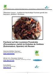 (Procambarus clarkii) im Embalse de Orellana - Naturland