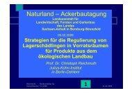 Strategien für die Regulierung von Lagerschädlingen in ... - Naturland