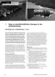 Wege zu einzelbetrieblichen Lösungen in der ... - Naturland