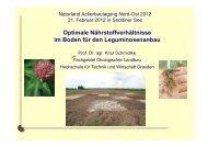 Optimale Nährstoffverhältnisse im Boden für den ... - Naturland
