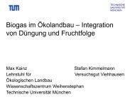 Biogas im Oekolandbau - Integration von Duengung und ... - Naturland