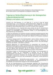 Tagung zur Herkunftssicherung in der ökologischen ... - Naturland