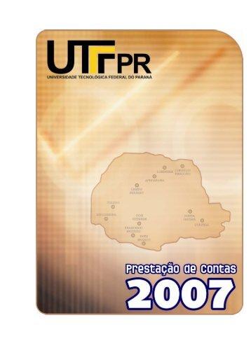Prestação de Contas 2007 - UTFPR