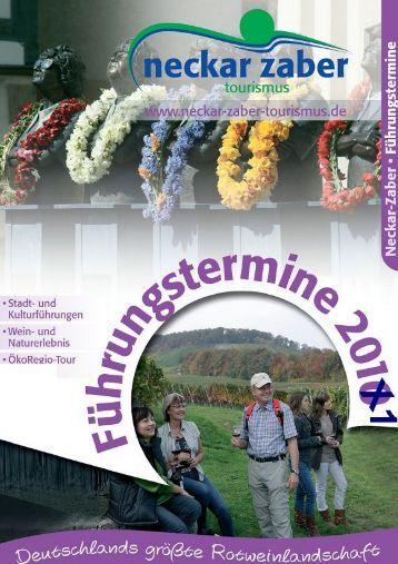 Führungstermine 2011 - Neckar-Zaber-Tourismus eV