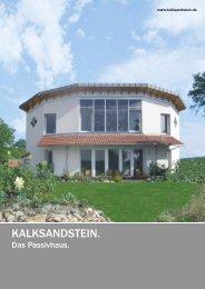 Kalksandstein - Das Passivhaus. - Niedrig Energie Institut