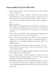 Seznam publikací, Ing. Josef Půta, Ph.D. - Technická univerzita v ...