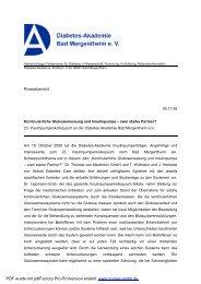 PRESSEBE.pdf, Seiten 1-2 - Diabetes Zentrum Mergentheim
