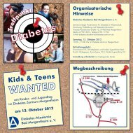 Kinder- und Jugendtag 2012 - Diabetes Zentrum Mergentheim