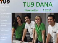 TU9 DANA Newsletter 01/2011