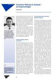 Schweizer Bildung im Ausland – ein Exportschlager - Swiss ...