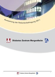 Patientenbefragung 2011 - Diabetes Zentrum Mergentheim