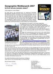 Geographie Wettbewerb 2007 - Deutsche Schule Bilbao