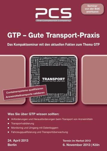 24. April 2013 Berlin Was Sie über GTP wissen sollten - PCS