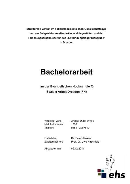 Bachelorarbeit Dresden