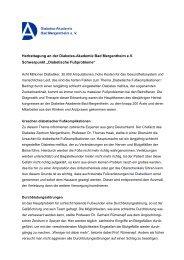 Herbsttagung an der Diabetes-Akademie Bad Mergentheim e.V. ...