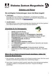 Diabetes und Reisen - Diabetes Zentrum Mergentheim
