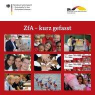 ZfA - kurz gefasst - Zentralstelle für das Auslandsschulwesen