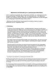 Merkblatt für die Entsendung von Landesprogrammlehrkräften Gilt ...