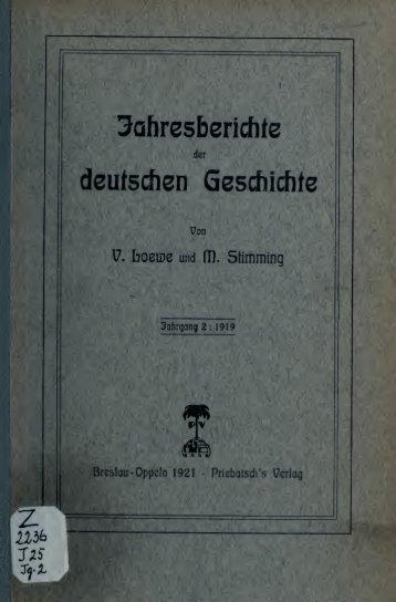 Jahresberichte der deutschen Geschichte
