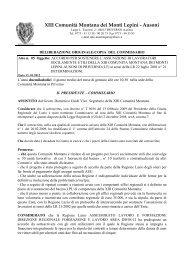 XIII COMUNITA' MONTANA DEI MONTI LEPINI