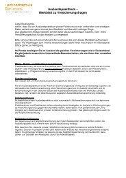 Merkblatt zu Versicherungsfragen - Fachhochschule Dortmund