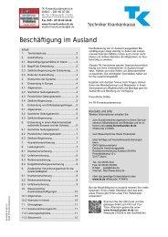 Beschäftigung im Ausland - Techniker Krankenkasse