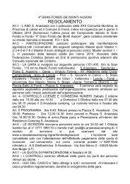 2a GRAN FONDO DEI MONTI AUSONI - Sant'Anastasia Camping